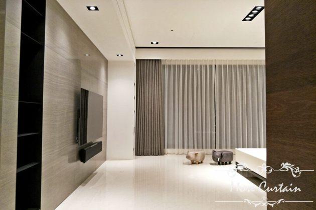 棉質窗簾布 蛇簾 客廳