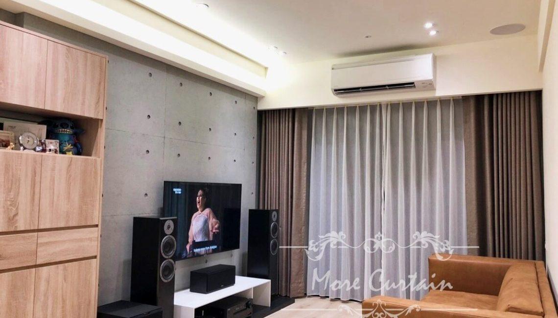 棉麻材質蛇簾窗簾設計/5.1聲道家庭環繞劇院/沐爾精選案例