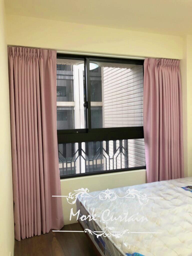 窗簾布 遮光 粉色