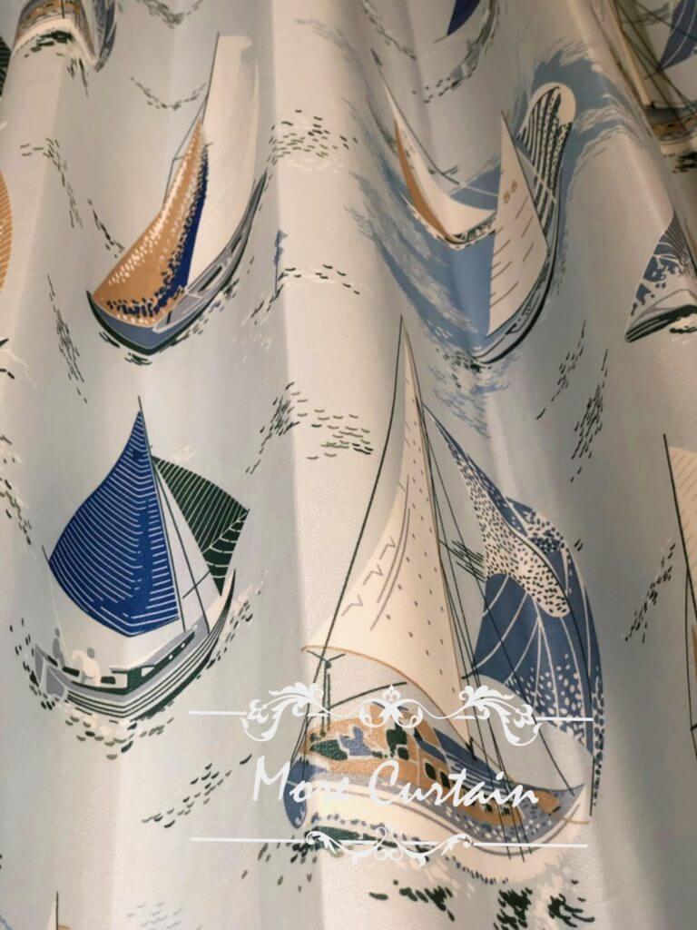 德國印花三明治布簾 落地窗設計