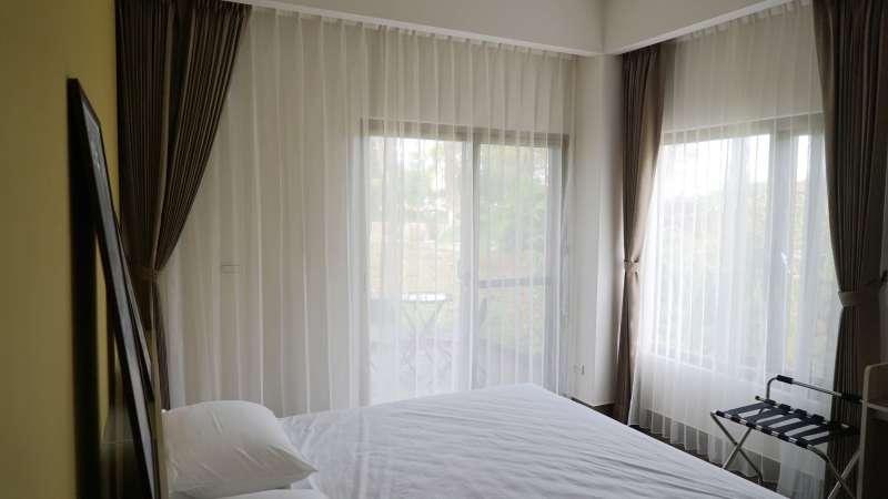 防焰白紗 落地窗簾