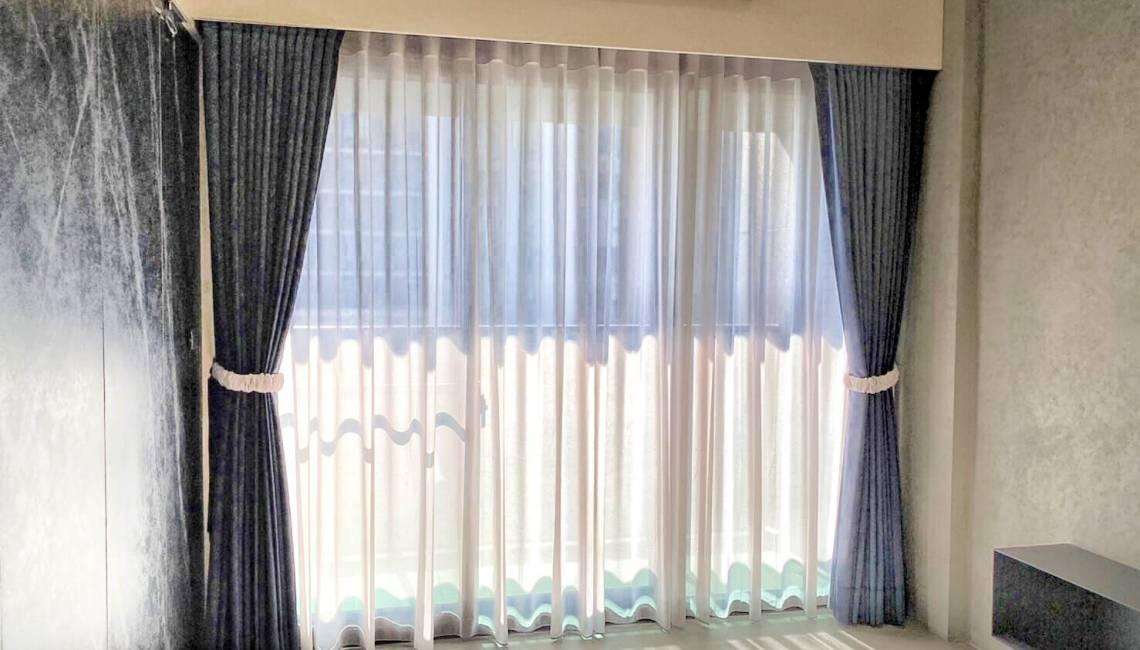 棉麻細緻紗簾 客廳窗簾 新竹窗簾推薦案例
