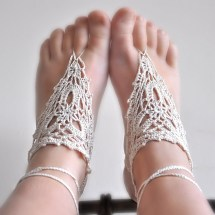 Pattern - Barefoot Crochet Sandals Pdf File Luulla