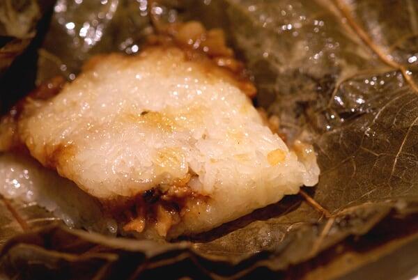 Steamed Glutinous Rice in Lotus Leaf