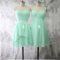 Mismatched Chiffon Mint Green Bridesmaid Dresses, Cheap ...