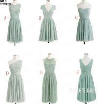Chiffon Mismatched Cheap Bridesmaid Dresses, Short Junior ...