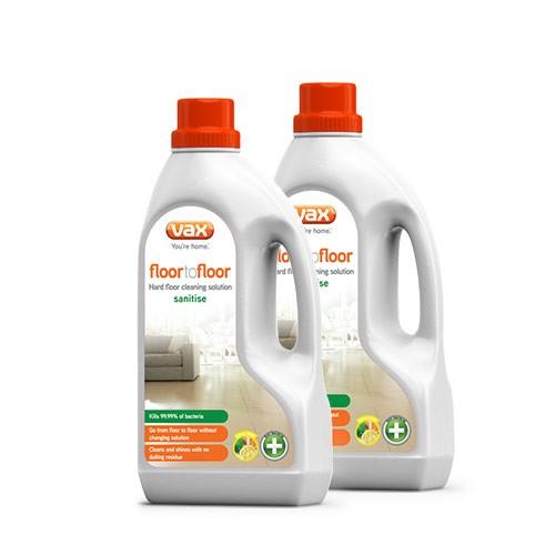 VAX Floor 2 Floor Sanitise Hard Floor Cleaning Solution 15l