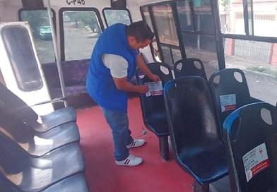 Transporte público toma medidas preventivas.