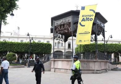 Instalan Bandera Amarilla en Sahuayo; hacen llamado a población a no relajar medidas