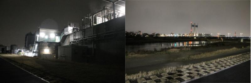 是政橋 深夜 夜景