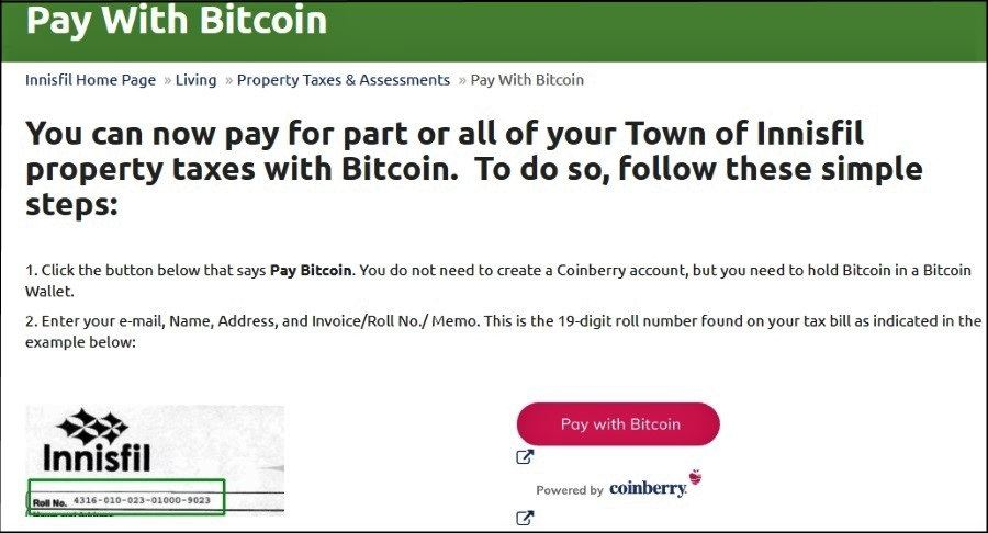 imposta account bitcoin)