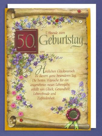 Ehrenurkunde 50 Geburtstag A4 505333