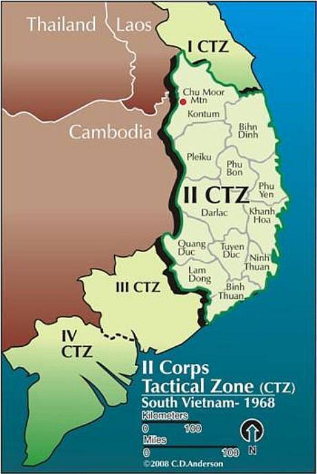 I Corps Vietnam War Map