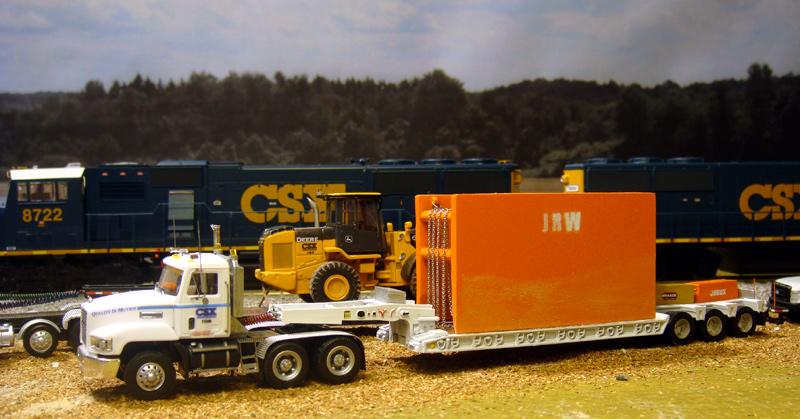 Csx Railroad Mow Mack Ch Truck Tractor Amp Lowboy Trailer