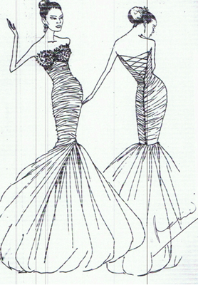 Simple Fashion Design Sketches Of Dresses 2015-2016