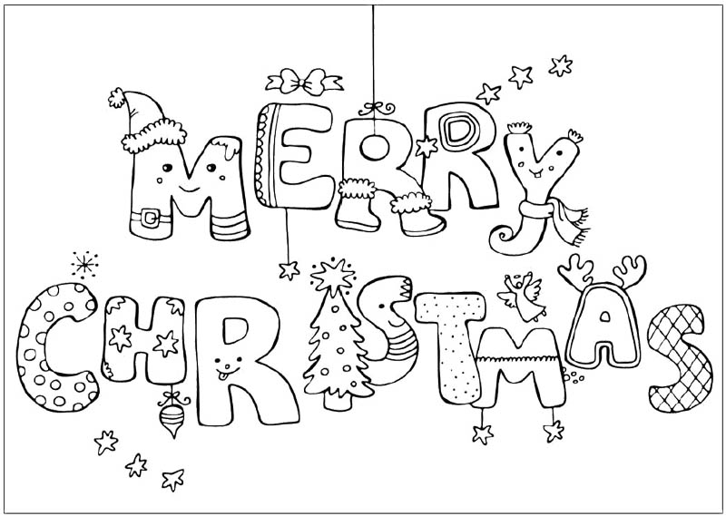 Coloring Pages That Say Merry Christmas Photos 2014-2015