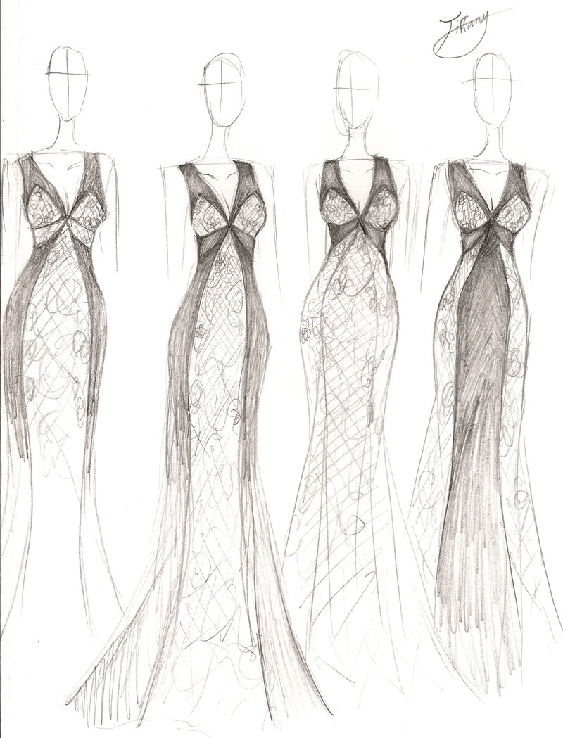 Fashion Design Sketches Of Dresses review