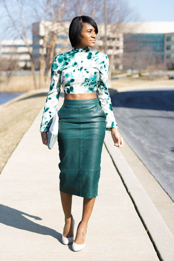 Leather Pencil Skirt Crop Top 20142015  Fashion Trends