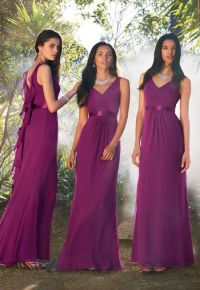 Plum Coloured Wedding Dresses - Junoir Bridesmaid Dresses