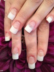 acrylic nails white french tip