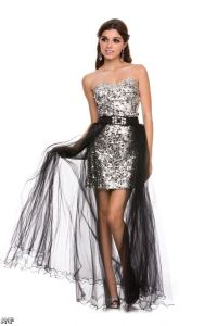Black And Silver Sweetheart Prom Dresses 2015-2016 ...