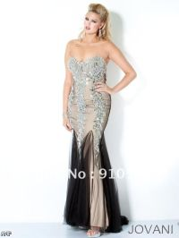 Black And Silver Sweetheart Prom Dresses 2015