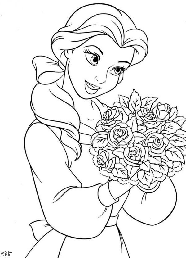 Coloring Pages Of Disney Princess Belle 2015-2016