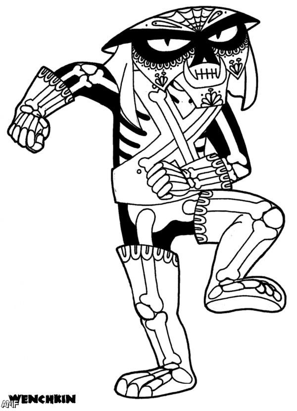 los muertos horse Colouring Pages