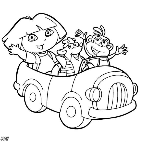 Dora And Friends Into The City Coloring Pages 2015-2016