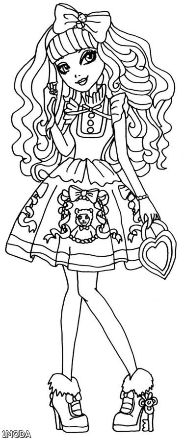 Ever After High Coloring Pages Blondie Locks 2015-2016