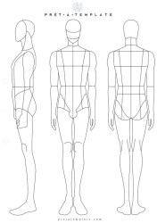 template male figure drawing templates sketches body sketch illustration croquis sketchbook printable own designers app mens clothes outline moda front