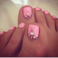 25+ French Toe Nails With Diamonds