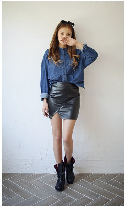 Leather Pencil Skirt Crop Top review  Shopping Guide We Are Number One  Where To Buy Cute Clothes