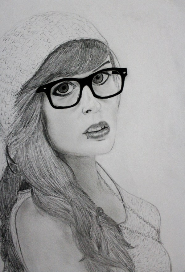 Hipster Girl Drawing Fashion Trends 2016-2017