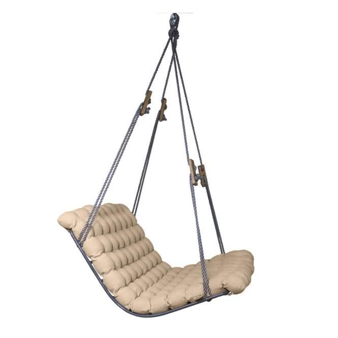 Béžová závěsná relaxačí houpačka Vikos