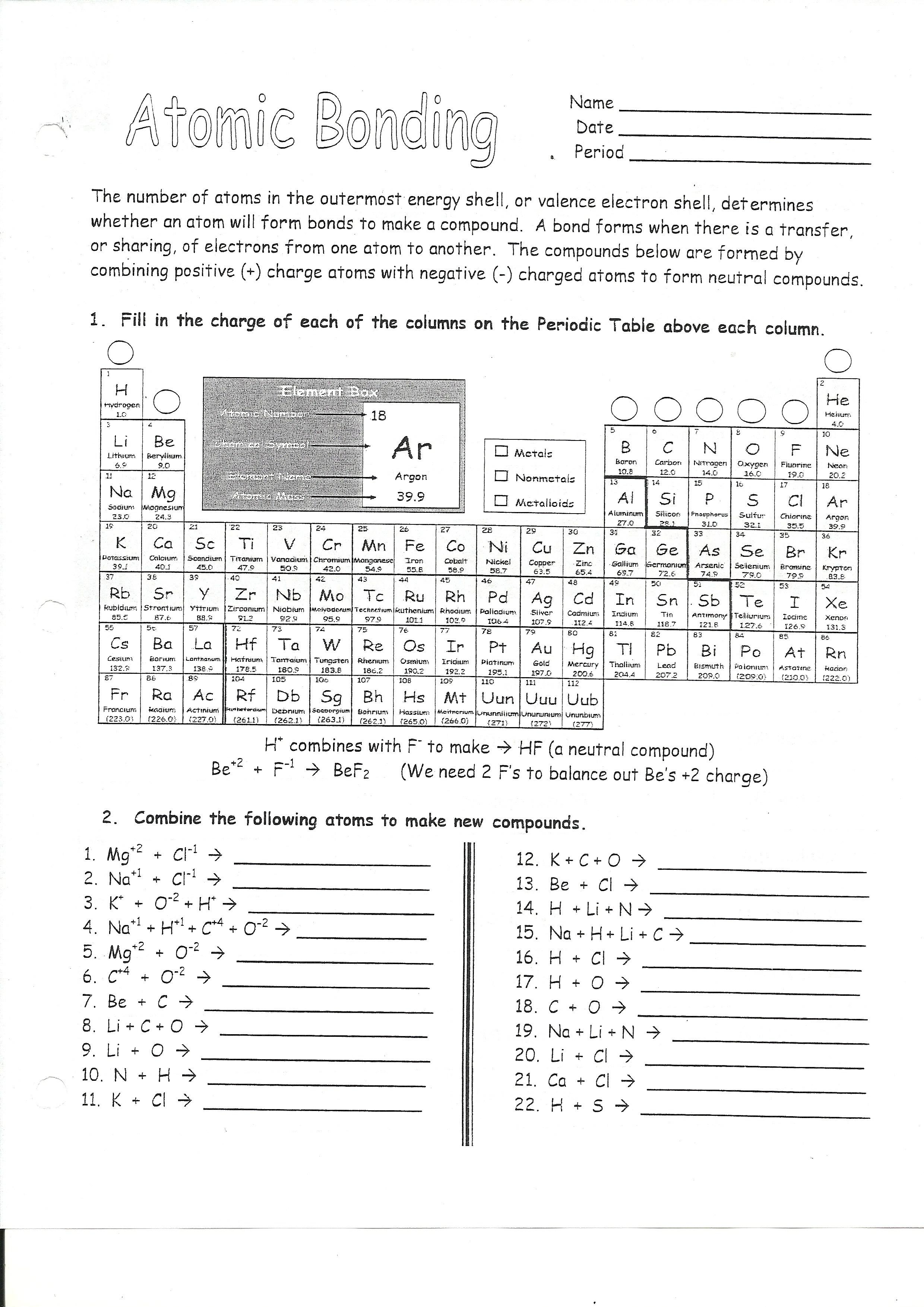 Electron Configuration Practice Worksheet Doc