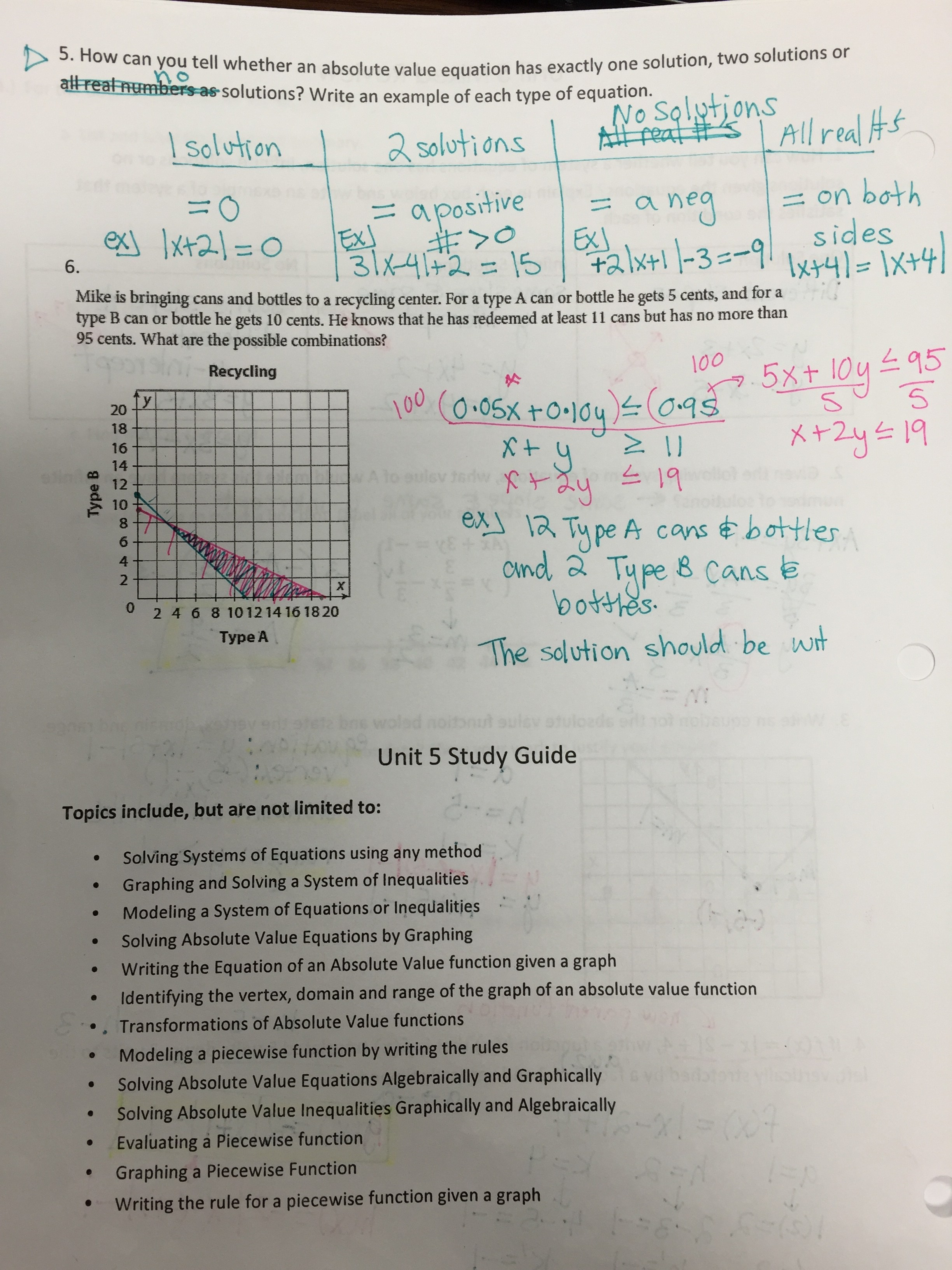 Writing Linear Equations Module Quiz B Answer Key