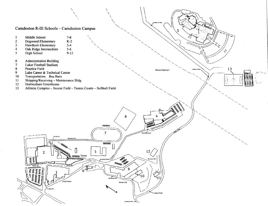 Map of Campus – Contact