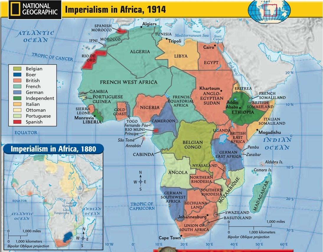 Scramble For Africa Map Worksheet