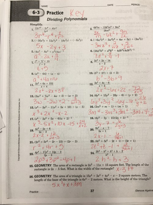 small resolution of Algebra 2 Polynomial Division Worksheet   Printable Worksheets and  Activities for Teachers