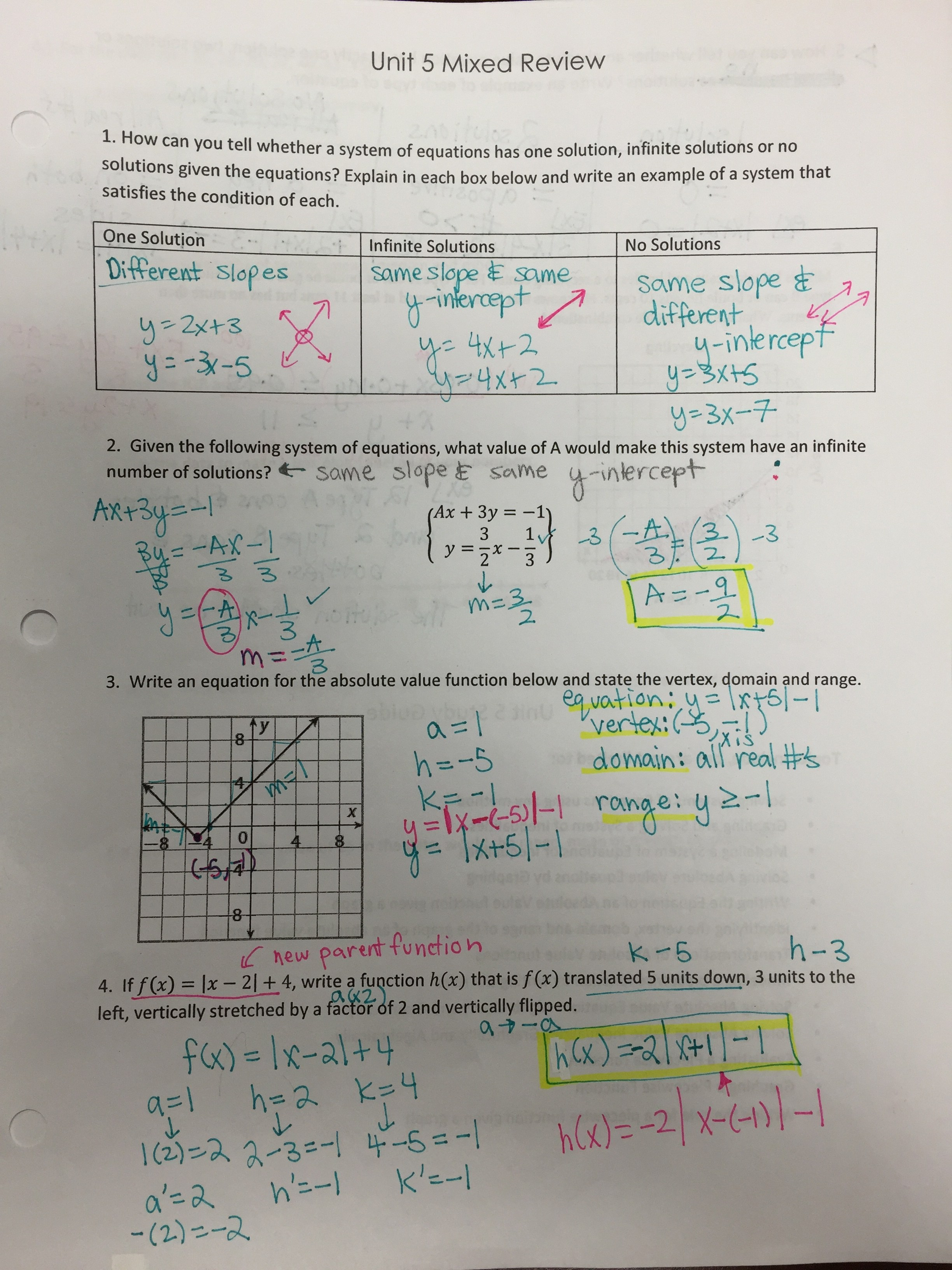 Solving 3x3 Systems Of Linear Equations Practice Problems