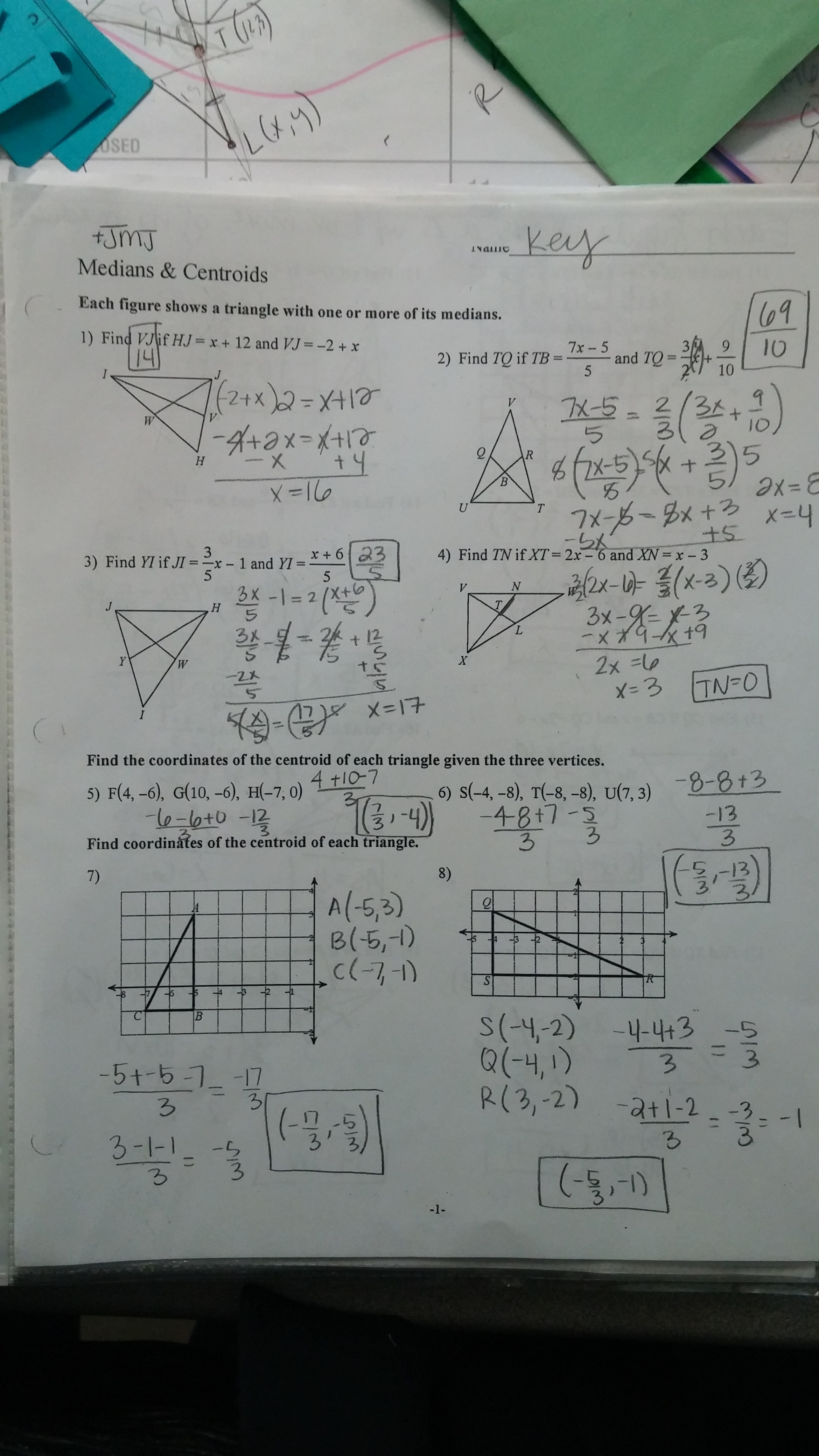 Geometry Chapter 6 Resource Book H Answer Key