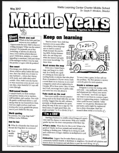 School wide learning outcomes middle years newsletter also student life  watts center rh wattslearningcenter