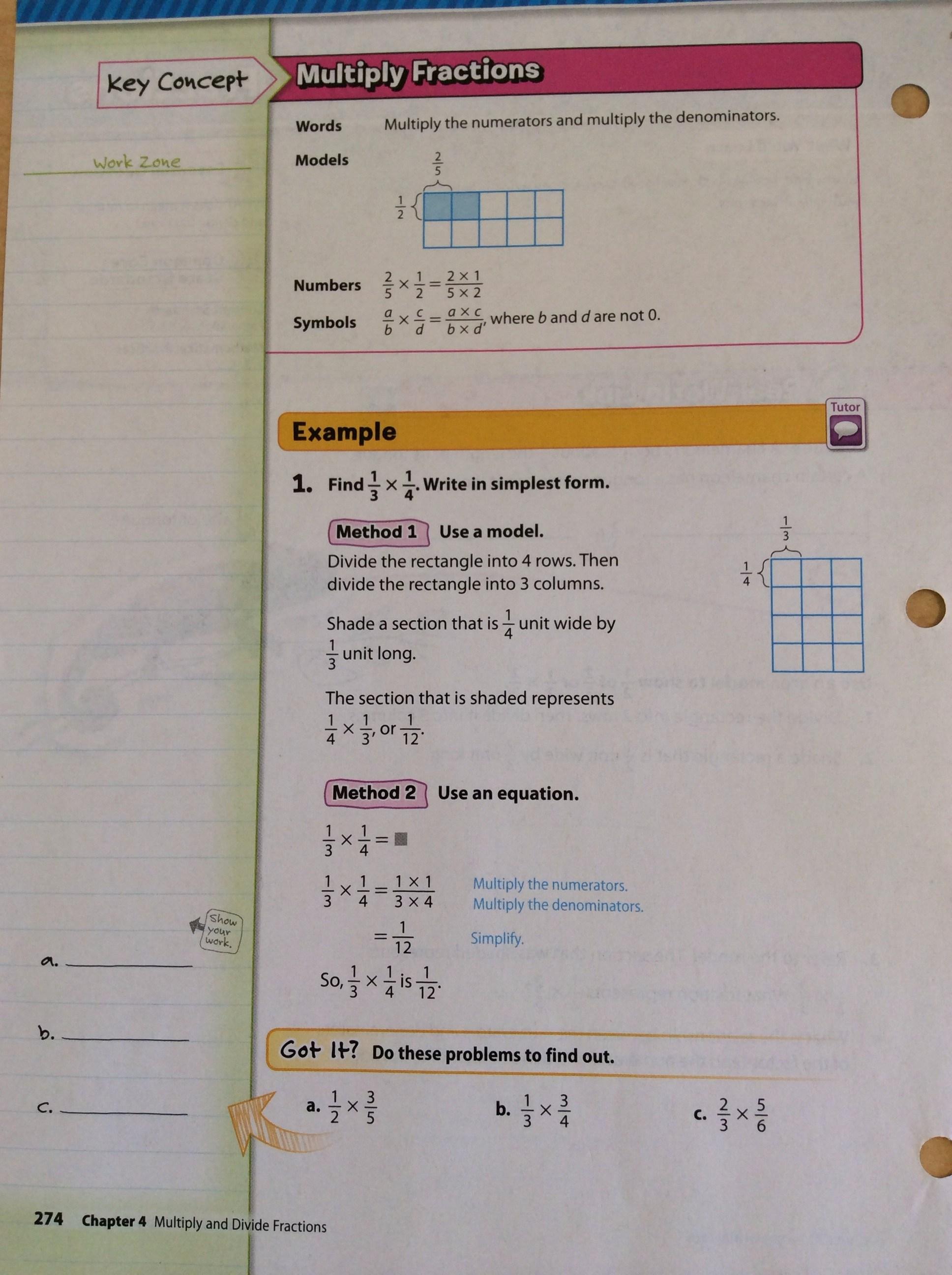 Lesson 4 Homework Practice Ratio Tables 6th Grade