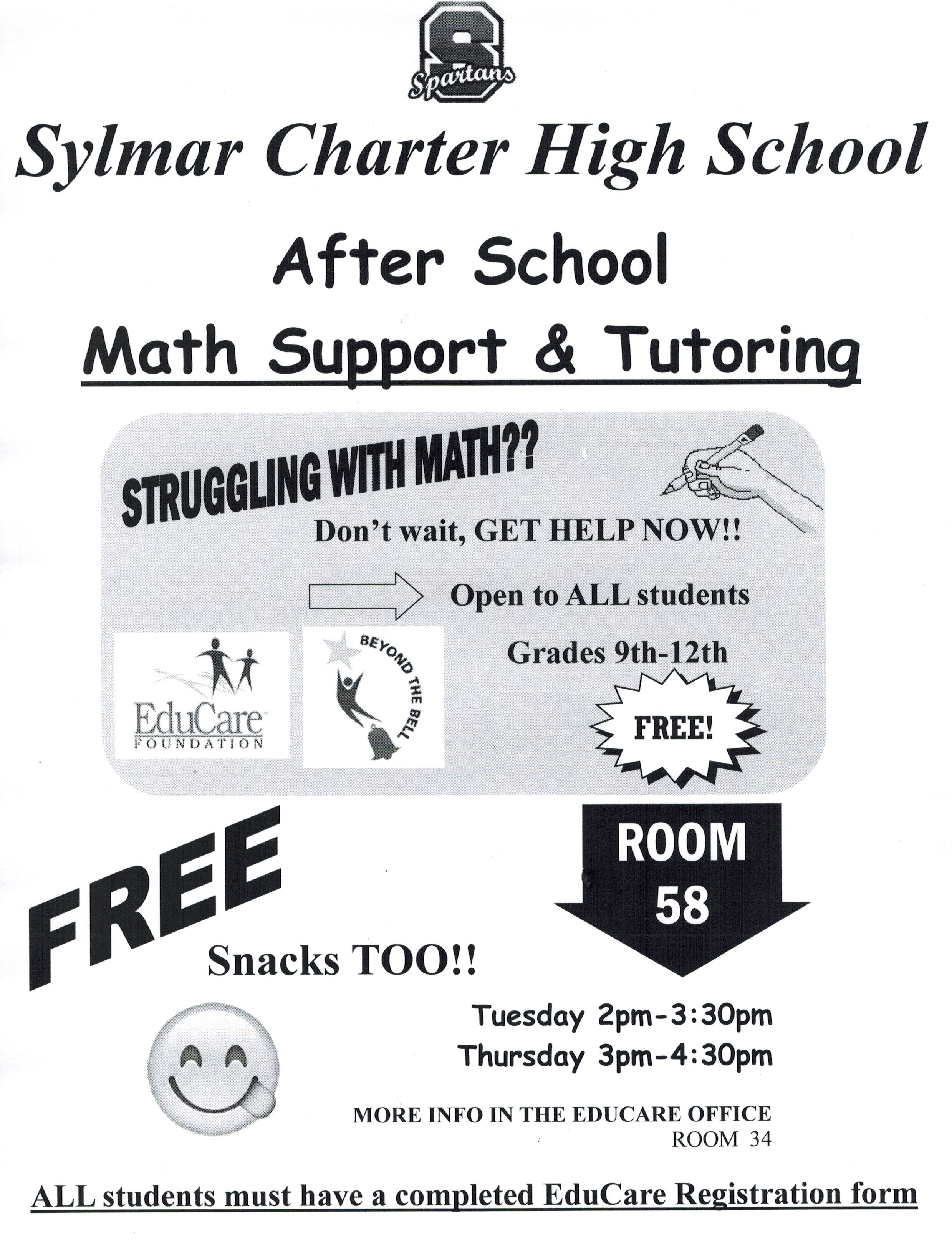 Math Support and Tutoring – After School Programs
