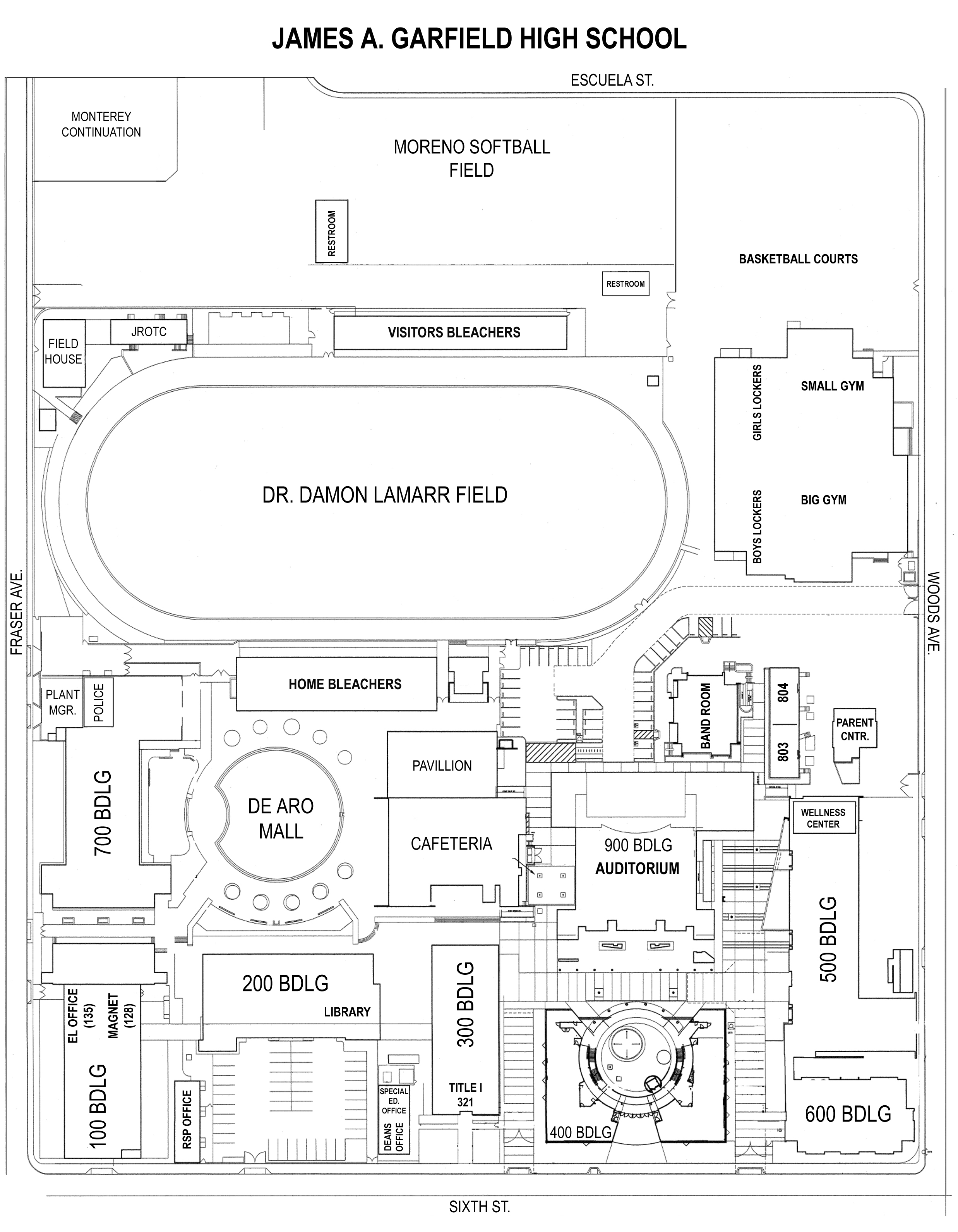 Public School Building Line Plan