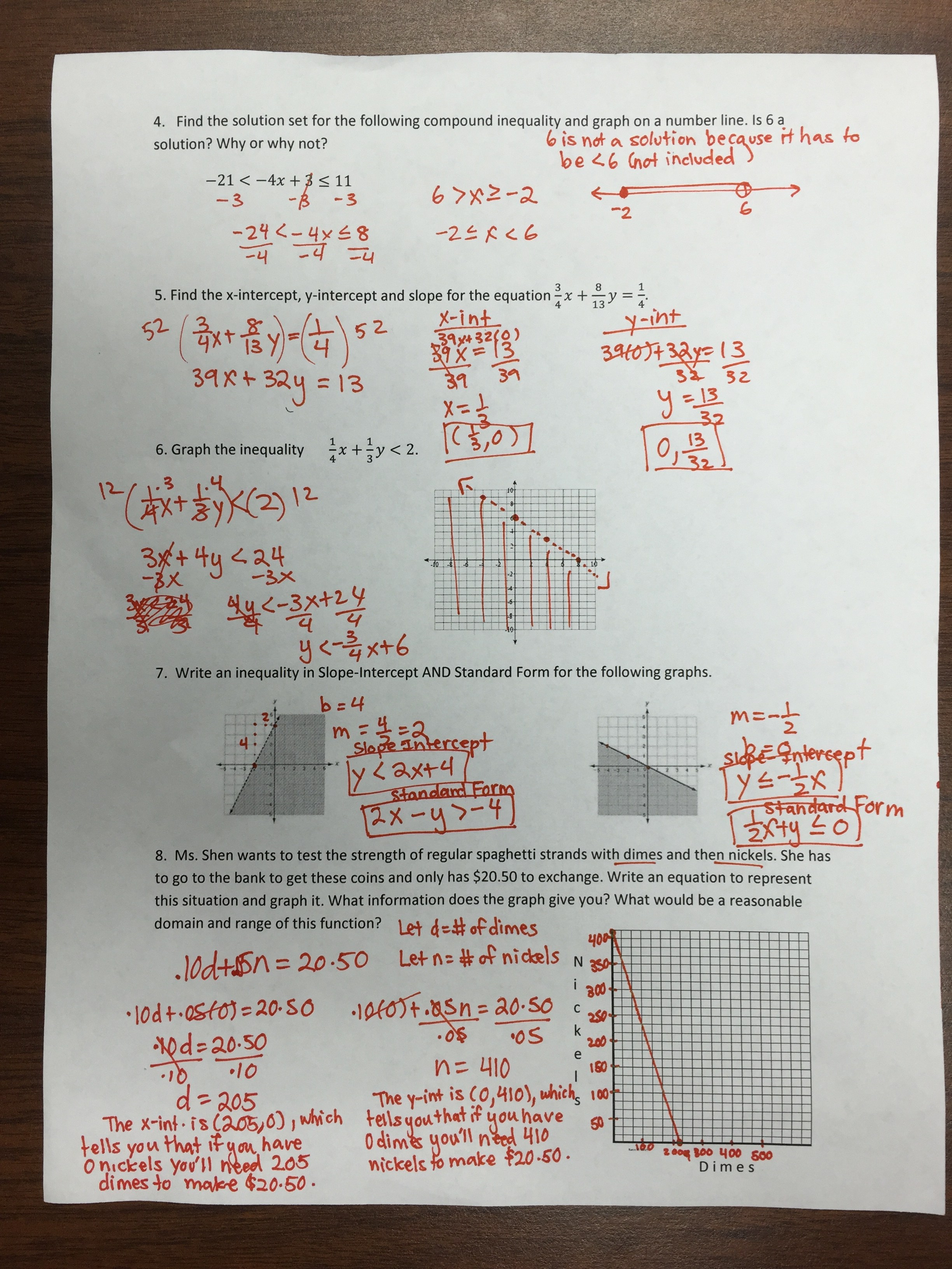 Solving Linear Systems By Graphing Worksheet Answers 111