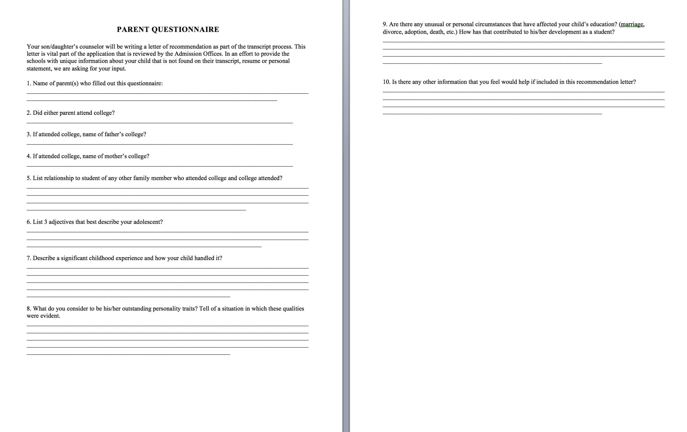 teacher recommendation letter naviance
