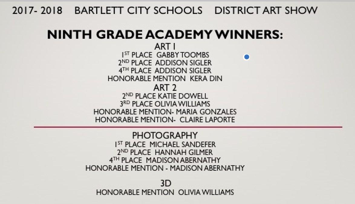 Bartlett Ninth Grade Academy