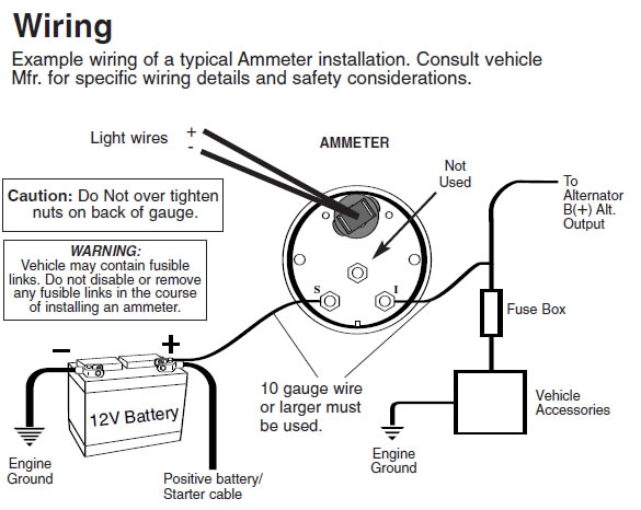 sun pro tach wiring diagram 2003 nissan sentra radio how to install an auto meter pro-comp ultra-lite water temp gauge - electric on your 1979-2012 ...